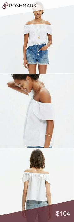 Madewell Off-the-Shoulder Top White off shoulder top Madewell Tops