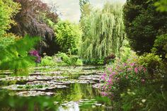 Paris Photograph  Monet's Water Lily Pond  by ForTheLoveOfWallArt, $25.00