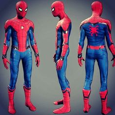 Character turnaround of the new Spider-Man suit worn by Tom Holland for Captain America: Civil War.  Get ready to see some upgrades!