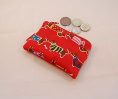 Sausage Dogs Fabric Coin Purse - Free P&P £5.00