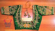South Indian Blouse Designs, Best Blouse Designs, Dress Neck Designs, Sleeve Designs, Wedding Saree Blouse Designs, Pattu Saree Blouse Designs, Designer Blouse Patterns, Maggam Works, Work Blouse