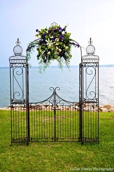 Wedding arch arrangement without the big thing in the middle, but something a little more simple?
