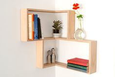 Corner Shelf: Display Cabinet Book Vintage Mid-century Unit Furniture Retro Art…