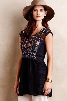 Barranco Embroidered Tunic - anthropologie.com