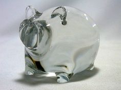 Vintage Spode Crystal Pig by WhatnotsAndFancifuls on Etsy