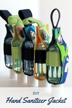 DIY Hand Sanitizer Holder - Sewing With Scraps