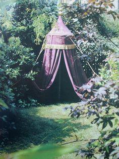 Lavender bohemian tent
