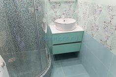 Светло-бирюзовая ванная в плитке Milady Mint NovaBell