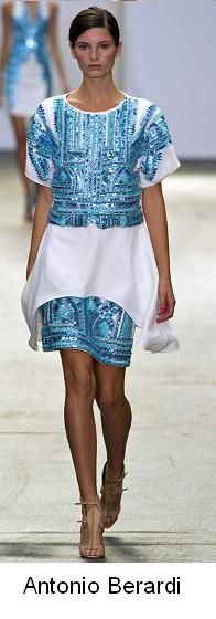 Beautiful blue and white dress with sequins