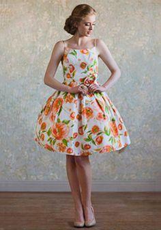 vintage style bridesmaid dress