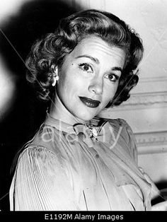 Download this stock image: Actress Linda Christian at Savoy Hotel - E1192M from Alamy's library of millions of high resolution stock photos, Stock Photo, illustrations and vectors.