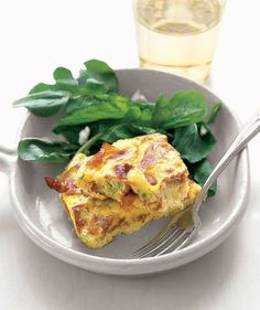 Crispy Prosciutto and Scallion Frittata recipe