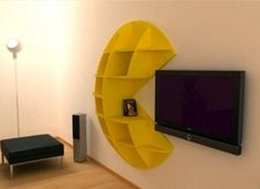 Pac Man bookcase