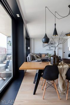 Modern Dining Room Design Ideas - Modern dining room decor ideas: Impress your visitors with these modern design ideas. Home Interior Design, Interior Architecture, Interior Decorating, Interior Ideas, Cosy Interior, Decorating Ideas, Decorating Websites, Interior Modern, Interior Exterior