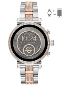 79af6405b071 Michael Kors Access Women s Sofie Heart Rate Two-Tone Stainless Steel  Bracelet Touchscreen Smart Watch