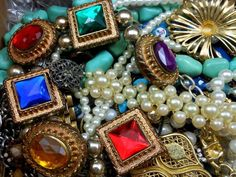Huge 8+LBS Vintage to Now Jewelry Lot Repair Harvest Crafts Re-Purpose Some Wear SOLD