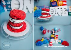 Ethan's Dr Seuss Cake Smash at The Flash Lady Photography