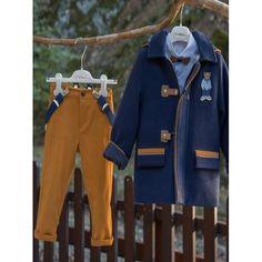 Βαπτιστικό κουστουμάκι Mi Chiamo Χειμερινό βαμβακερό σετ με παντελόνι, πουκάμισο, μπουφάν και καπέλο, Χειμερινό κουστουμάκι βάπτισης μοντέρνο, Χειμερινά βαπτιστικά ρούχα αγόρι τιμές, Χειμωνιάτικα ρούχα βαπτιστικά για αγόρι προσφορά Rain Jacket, Windbreaker, Boys, Winter, Jackets, Fashion, Baby Boys, Winter Time, Down Jackets