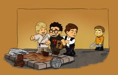 As the debate over JJ Abrams' involvement with both the Star Trek and Star Wars franchises continues, artist Bob Thiele has offered up an image that pokes fun at the situation and Trekkers that may feel a little slighted. Bryan Burk, Star Trek, Jj Abrams, Drawn Art, Nerd Art, Episode Vii, Love Stars, Star Wars Episodes, Superwholock