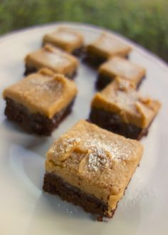 Peanut Butter Frosted Brownies- simple frosting to use with brownie mix