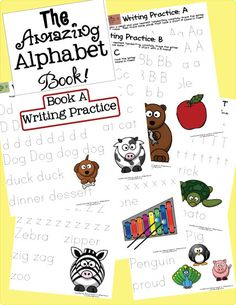 2 FREE The Amazing Alphabet Book! Writing Practice and Letter Hunts
