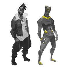 All Hail King Killmonger! • • • #quickskecth #gesture #gesturedrawing #erikkillmonger #killmonger #goldenjaguar #blackpanther #marvel #sketch #digitaldrawing #digitalpainting #artwork #illustration #photoshop #poydraws