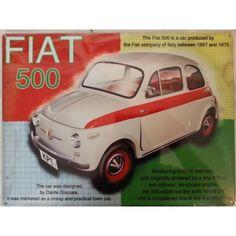 Plaque métal déco Fiat 500 sur Retro Wheels : https://www.retrowheels.fr/plaques-metalliques/411-plaque-metal-deco-fiat-500.html