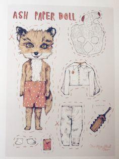 Limited Edition cute Ash Fantastic Mr Fox Paper by rosepetaldeer