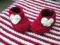 Ici, on tricote: chaussons bébé en 30 rangs chrono