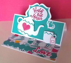 Stampin-Up-A-NICE-CUPPA-WORLDS-BEST-MOTHER-Easel-Card-Birthday-Mothers-Day