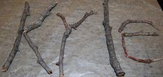 Names Stick Names Forest School Activities, Eyfs Activities, Spelling Activities, Nursery Activities, Educational Activities, The Scarecrows Wedding, Natural Playground, Playground Ideas, Funky Fingers
