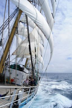 """12.6 Knots under the Sails by Max Belov, via 500px - """"The tall ship """"Mir"""" in the first leg of regatta ( Tall Ship Races 2012, Sant-Malo - Lisbon )"""" - Freedom! Exileration!! Joy!! - but a lot of hard, hard work and expertise as well."""