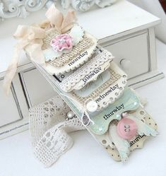 Shabby chic decor....those angel wings/button! OMG...have to make <3