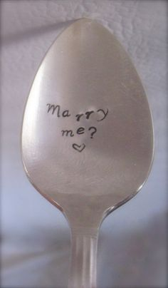 Marriage Proposal Idea  Handmade Gift for by SilverSpoonful