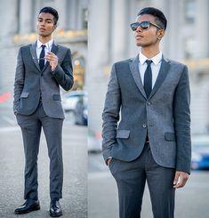 interesting coat/jacket  Topman Blazer/Shirt/Trousers, Tie, Alden Shoes