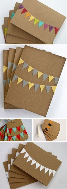 Lottie Loves...: {Paper} Bunting Cards