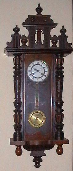 Antique Wall Clock Circa 1800 Wall key-wind Clock