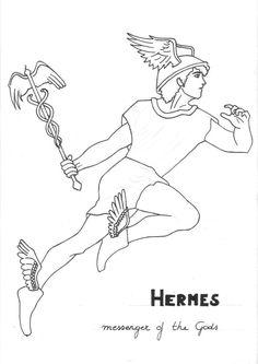 Hermes Coloring Page Greek God Mythology Unit Study By on NEO Coloring Pages 6648 Greek Mythology Tattoos, Greek Gods And Goddesses, Greek And Roman Mythology, Avengers Coloring Pages, Monster Coloring Pages, Hermes, Ancient Sparta, Greek Monsters, Greece Art