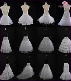 Petticoat crinoline for wedding dresses and formal dresses any silhouette. Short petticoat for wedding, party or prom, ballet dress. Short Petticoat, Petticoat For Wedding Dress, White Ball Gowns, Hoop Skirt, Apparel Design, Wedding Styles, Designer Dresses, Bridal, Wedding Dresses