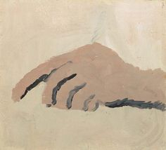 Philip Guston, Untitled, 1968 (hand, finger tapping, extra finger?)