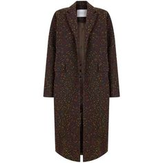 The 2nd Skin Co Tweed Maxi Coat (18 400 UAH) ❤ liked on Polyvore featuring outerwear, coats, chocolat, maxi coat, longline coat, brown tweed coat, long maxi coats and long tweed coat