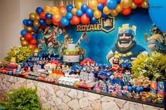 Festa Clash Royale para o Arthur – Inspire sua Festa ® Birthday Pinata, Cute Birthday Cakes, Birthday Candy, 9th Birthday, Birthday Balloons, Birthday Balloon Decorations, Birthday Party Centerpieces, Torta Clash Royale, Royal Party
