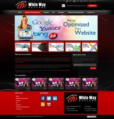Website designing, website development, website hosting, email hosting, search engine marketing, search engine optimisation, logo designing, graphic designing, mobile application, Facebook application, social media marketing, email marketing Ecommerce Websites, Social Media Websites, Advertising Websites in short all type of websites are offered by Whiteway Systems. WHITEWAY as an Identity based in 2000 under the complete control, command, authority & guidance of Hasan Qamar Mogul.