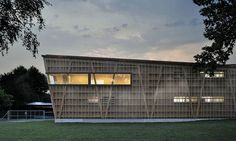 Green-Roofed Serpentine Swiss Lake Resort has a See-Through Sk...