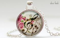 GClef Necklace Music Note Charm GClef Jewelry by FrenchHoney, $14.50