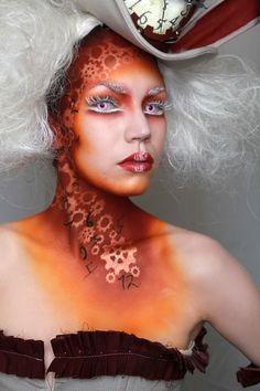 White Rabbit inspired makeup