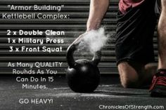 """Armor Building"" Kettle Bell Complex - Go Heavy!"