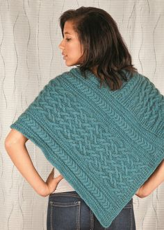 knit poncho pattern | Cozy cable poncho | Love of Knitting Winter 2011 | Love of Knitting