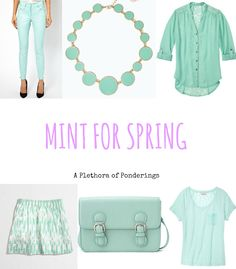Mint is a popular color in the #fashion world this spring!  Come see what mint lovelies I found for you to express your #style this season.