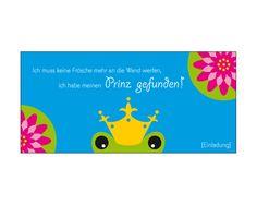 Einladungskarte Hochzeit Frosch von SaNe-Stücke auf DaWanda.com